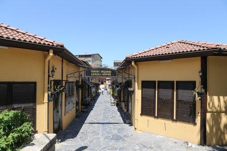 koprusu: Irgandi bridge and stores in Bursa City, Turkey