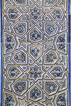 Blue Tile in Green Tomb, Bursa City, Turkey