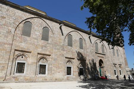seljuk: Grand Mosque of Bursa City in Turkey Stock Photo
