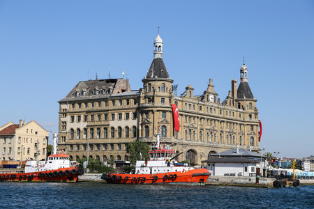 kadikoy: Haydarpasa Train Station in Istanbul City, Turkey