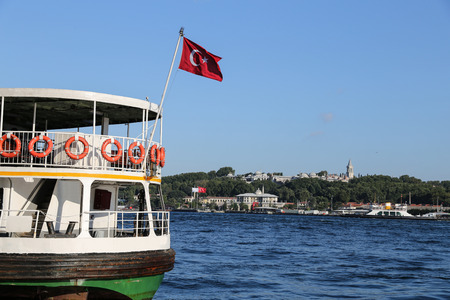 Topkapi Palace and Golde Horn in Istanbul City, Turkey Editorial