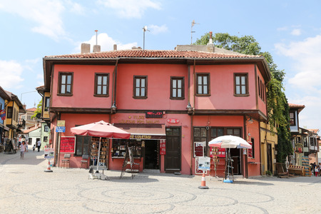 ESKISEHIR, TURKEY - SEPTEMBER 03, 2016: Old building in historic Odunpazari district. Odunpazari is one of the most populer touristy district with old Ottoman Buildings in Eskisehir. Editorial