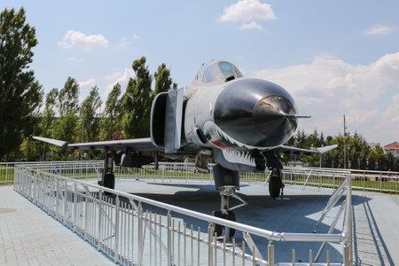 twin engine: ESKISEHIR, TURKEY - SEPTEMBER 04, 2016: McDonnell Douglas F-4E Phantom II in Sazova Science, Art and Cultural Park. F-4E Phantom II is tandem two seat, twin engine long range supersonic jet. Editorial