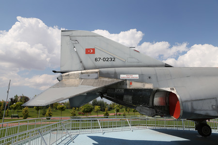 supersonic transport: ESKISEHIR, TURKEY - SEPTEMBER 04, 2016: McDonnell Douglas F-4E Phantom II in Sazova Science, Art and Cultural Park. F-4E Phantom II is tandem two seat, twin engine long range supersonic jet. Editorial