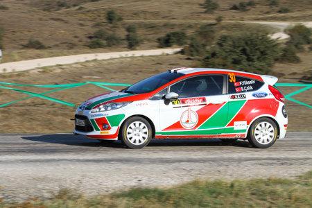 ESKISEHIR, TURKEY - SEPTEMBER 03, 2016: Firat Yukselir drives Ford Fiesta R1 in Eskisehir Rally