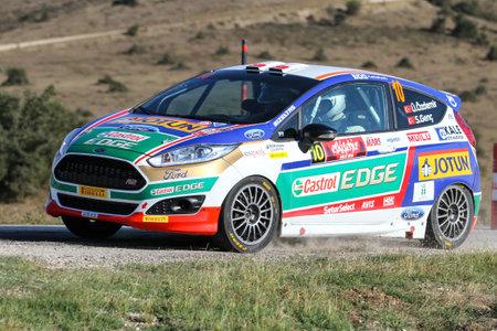 turkiye: ESKISEHIR, TURKEY - SEPTEMBER 03, 2016: Umitcan Ozdemir drives Ford Fiesta R2T of Castrol Ford Team Turkiye in Eskisehir Rally Editorial