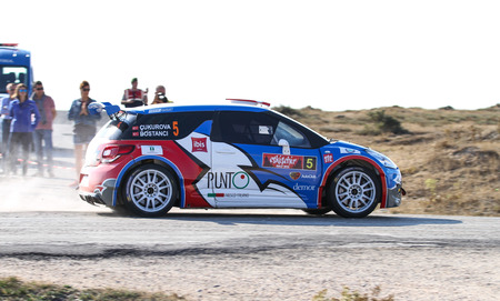 motorsport: ESKISEHIR, TURKEY - SEPTEMBER 03, 2016: Burak Cukurova drives Citroen DS3 RS EVO of BC Vision Motorsport Team in Eskisehir Rally