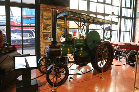 cartage: ISTANBUL, TURKEY - JULY 29, 2016: New Abbey Steam Cartage in Rahmi M. Koc Industrial Museum. Koc museum has one of the biggest classic car collection in Turkey.