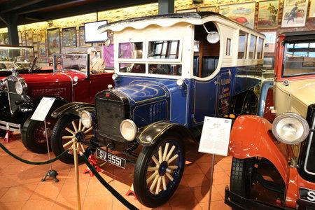 ISTANBUL, TURKEY - JULY 29, 2016: 1926 Ford Model TT Bus in Rahmi M. Koc Industrial Museum. Koc museum has one of the biggest classic car collection in Turkey. Sajtókép