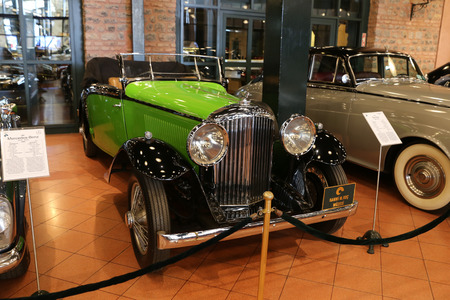 ISTANBUL, TURKEY - JULY 29, 2016: Bentley classic car in Rahmi M. Koc Industrial Museum. Koc museum has one of the biggest classic car collection in Turkey. Editorial