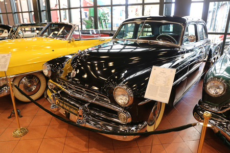 dodge: ISTANBUL, TURKEY - JULY 29, 2016: 1952 Dodge Coronet in Rahmi M. Koc Industrial Museum. Dodge Coronet was produced from 1949 through 1959