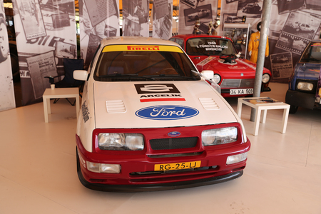 museum rally: ISTANBUL, TURKEY - JULY 29, 2016: Ford Rally car in Rahmi M. Koc Industrial Museum. Koc museum is industrial Museum dedicated to history of transport, industry and communications
