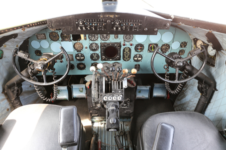 ISTANBUL, TURKEY - JULY 29, 2016: Douglas C47A Skytrain in Rahmi M. Koc Industrial Museum. Koc museum is industrial Museum dedicated to history of transport, industry and communications