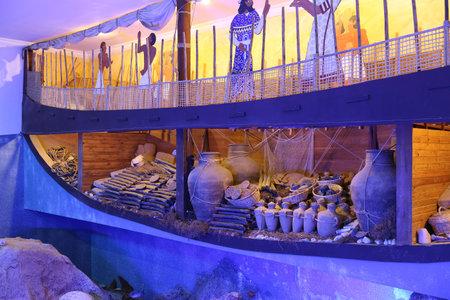 the sunken: Recreation of a lagan in Bodrum Castle Museum, Turkey