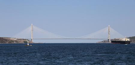 koprusu: Yavuz Sultan Selim Bridge in Istanbul City, Turkey