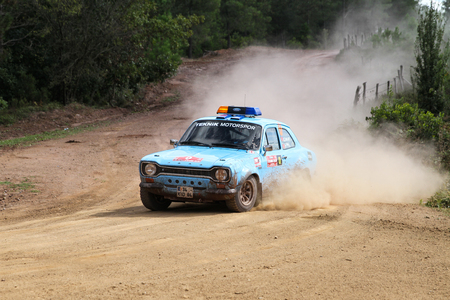 ISTANBUL, TURKEY - SEPTEMBER 25, 2016: Ford Escort MK1 safety car in Istanbul Rally Editorial