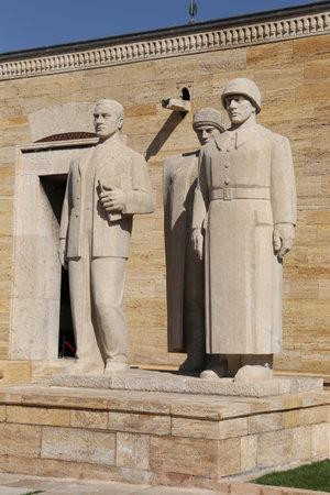 mustafa: Turkish Men sculpture located at the entrance of the Road of Lions, Anitkabir, Ankara