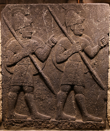 heralds: Orthostats of Heralds Wall in Museum of Anatolian Civilizations, Ankara, Turkey Editorial