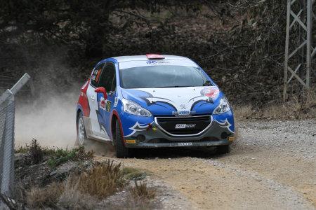 corum: CORUM, TURKEY - OCTOBER 29, 2016: Ismet Toktas drives Peugeot 208 R2 in Corum Hitit Rally