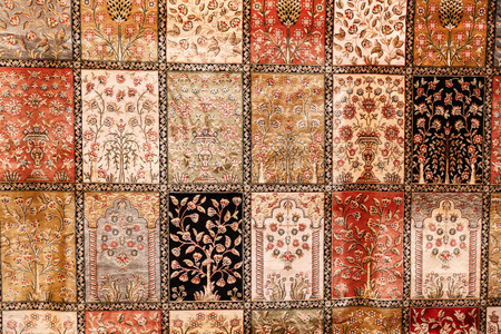 oriental rug: Detail of Turkish Carpet from Central Anatolia