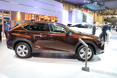 ISTANBUL, TURKEY - APRIL 22, 2017: Lexus NX 300h on display at Autoshow Istanbul