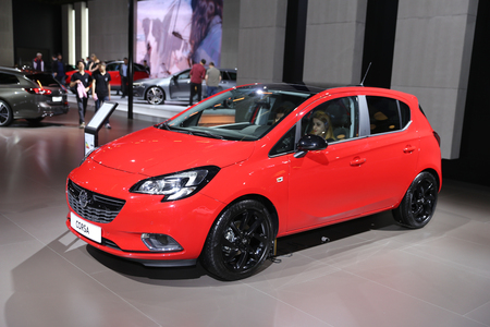 ISTANBUL, TURKEY - APRIL 22, 2017: Opel Corsa on display at Autoshow Istanbul
