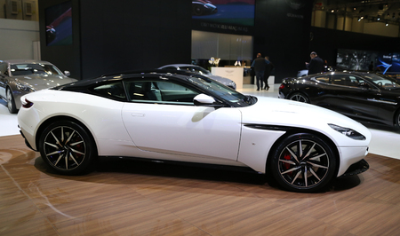 ISTANBUL, TURKEY - APRIL 22, 2017: Aston Martin DB11 on display at Autoshow Istanbul Editorial