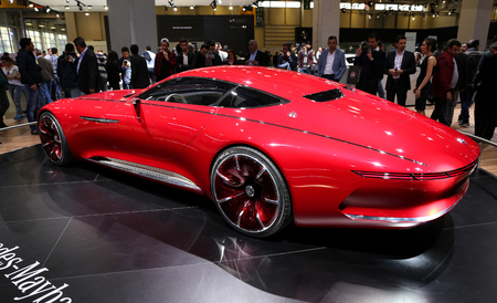 concep: ISTANBUL, TURKEY - APRIL 22, 2017: Vision Mercedes Maybach 6 on display at Autoshow Istanbul