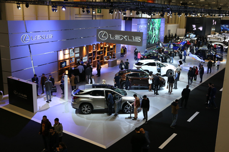 ISTANBUL, TURKEY - APRIL 22, 2017: General view of Autoshow Istanbul Editorial