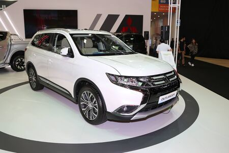 ISTANBUL, TURKEY - APRIL 22, 2017: Mitsubishi Outlander on display at Autoshow Istanbul