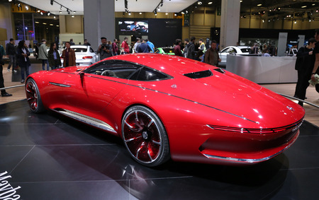 ISTANBUL, TURKEY - APRIL 22, 2017: Vision Mercedes Maybach 6 on display at Autoshow Istanbul