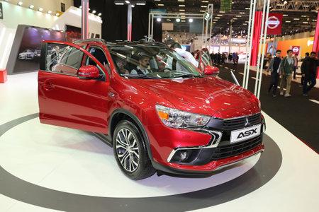 ISTANBUL, TURKEY - APRIL 22, 2017: Mitsubishi ASX on display at Autoshow Istanbul
