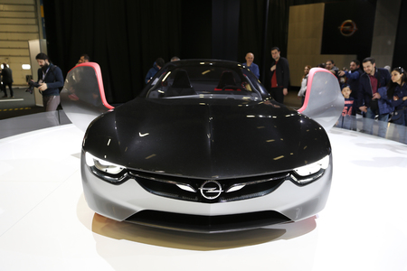 ISTANBUL, TURKEY - APRIL 22, 2017: Opel GT concept on display at Autoshow Istanbul