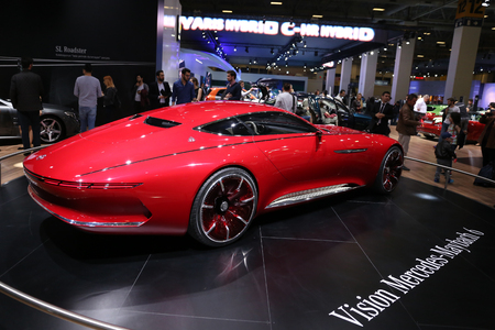 ISTANBUL, TURKEY - APRIL 22, 2017: Vision Mercedes Maybach 6 on display at Autoshow Istanbul Stock Photo - 78040114