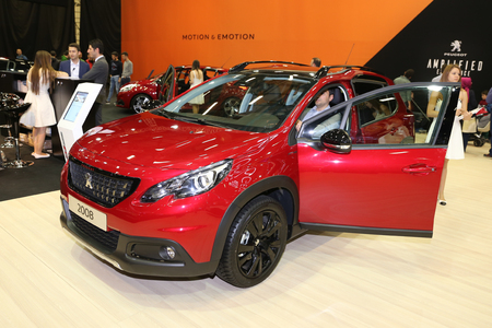 ISTANBUL, TURKEY - APRIL 22, 2017: Peugeot 2008 on display at Autoshow Istanbul Editorial