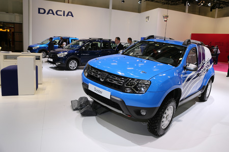 ISTANBUL, TURKEY - APRIL 22, 2017: Dacia Duster on display at Autoshow Istanbul Banco de Imagens - 78040153