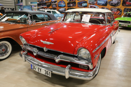 ISTANBUL, TURKEY - APRIL 22, 2017: An Old Plymouth on display at Autoshow Istanbul Editorial