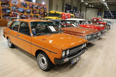 ISTANBUL, TURKEY - APRIL 22, 2017: Classic cars on display at Autoshow Istanbul Editorial