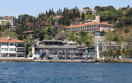 ISTANBUL, TURKEY - APRIL 29, 2017: Reina Nightclub in Bosphorus Strait side. At least 39 people have been killed in an attack during new year celebrations. Editöryel
