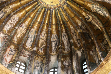 Inside of Chora Church in Istanbul City, Turkey