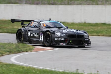 KOCAELI, TURKEY - MAY 14, 2017: Bilal Saygili drives BMW Z4 GT3 during Turkish Touring Car Championships.