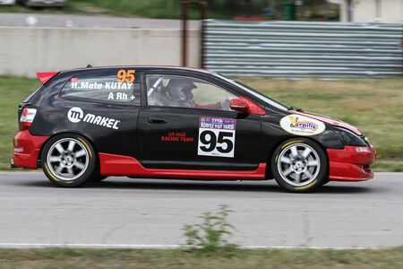 KOCAELI, TURKEY - MAY 14, 2017: Hakan Mete Kutay drives Honda Civic Type-R during Turkish Touring Car Championships.