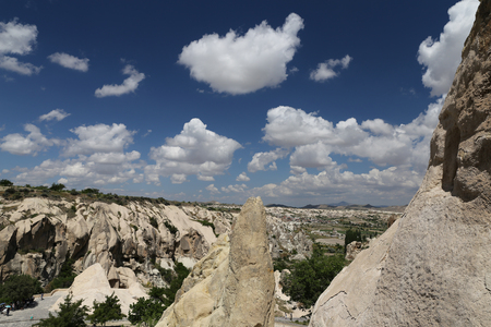 View of Cappadocia in Nevsehir City, Turkey