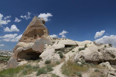 cavern: Rock Formations in Cappadocia, Nevsehir City, Turkey