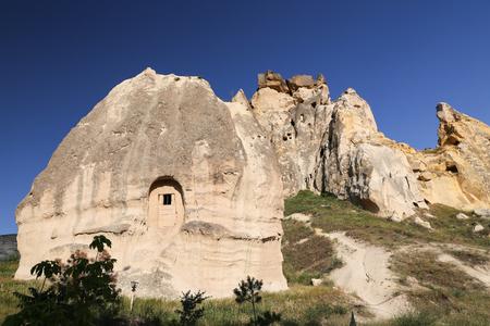 Rock Formations in Cavusin Village,  Cappadocia, Turkey