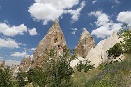 Rock Formations in Cappadocia, Nevsehir City, Turkey