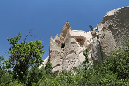 Rock Formation in Pigeons Valley,  Cappadocia, Turkey