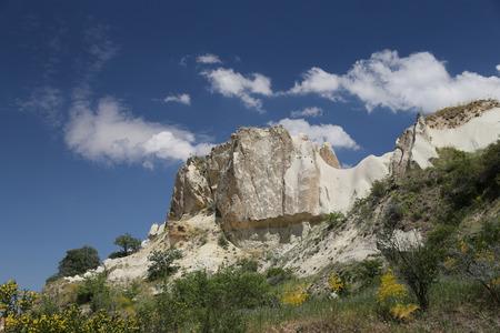 cavern: Pigeons Valley in Nevsehir City, Cappadocia, Turkey Stock Photo