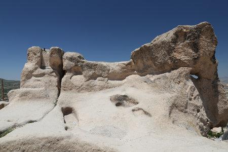 Rock Formation in Uchisar Town,  Cappadocia, Turkey Editorial