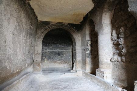 Inside of Church of St. John the Baptist, Cavusin Village, Cappadocia, Turkey